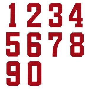 背番号ワッペン 5cmサイズ アップリケ、数字ナンバー入れ、野球、サッカースポーツのユニフォームに!【DM便選択可】【楽ギフ_包装】