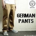 ミリタリーパンツ『HOUSTON/ヒューストン』 1257 German Pants / ジャーマン パンツ -全3色- 「コットン100%」「ドイツ軍」「アメカジ」「ボトムス」「モールスキン」「モル