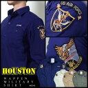 長袖シャツ 2016 S/S『HOUSTON/ヒューストン』 40149 WAPPEN MILLITARY SHIRT / ワッペンミリタリーシャツ -全4色- 「メンズ」「ミリタ…