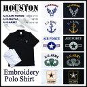半袖ポロシャツ 2016 S/S『HOUSTON/ヒューストン』 21159_63 ENBROIDERY POLO SHIRT / 刺繍ポロシャツ -全5種/各2色-「アメカジ」「ミ…