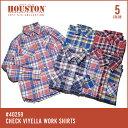 チェックシャツ 2017 S/S『HOUSTON/ヒューストン 』40259 CHECK VIYELLA WORK SHIRTS / チェック ビエラ ワークシ...