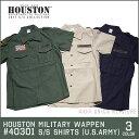 ミリタリーシャツ 2017 S/S『HOUSTON/ヒューストン 』40301 MILITARY WAPPEN S/S SHIRTS(U.S.ARMY) / ミリタリーワッ…