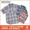 チェックシャツ 2017 S/S『HOUSTON/ヒューストン 』40310 VIYELLA WORK S/S SHIRTS / ビエラワーク半袖シャツ -全4色-「アメカジ」「空…