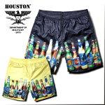 2018S/S『HOUSTON/ヒューストン』1812ALOHASHORTS(BEER)/アロハショーツ(ビール)-全2色-/ポリエステル/光沢/メッシュ/短パン/瓶/セットアップ【チケット対象】[1812]