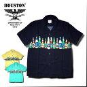 2017 S/S『HOUSTON/ヒューストン 』40312 ALOHA SHIRTS (BEER) / アロハ シャツ -全3色-「アメカジ」「ビール」「ビンテージ」「メンズ」「ココナッツボタン」「