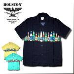 2017S/S『HOUSTON/ヒューストン』40312ALOHASHIRTS(BEER)/アロハシャツ-全3色-「アメカジ」「ビール」「ビンテージ」「メンズ」「ココナッツボタン」「レーヨン」「カジュアル」「開襟」【チケット対象】[40312]