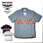2017S/S『HOUSTON/ヒューストン』40313ALOHASHIRTS(GUITAR)/アロハシャツ-全3色-「アメカジ」「ギター」「ビンテージ」「メンズ」「ココナッツボタン」「レーヨン」「カジュアル」「開襟」【チケット対象】[40313]