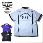 2018S/S『HOUSTON/ヒューストン』40383BOWLINGSHIRT($$$)/ボウリングシャツ($$$)-全3色-/ボーリング/ピン/リヨセル/刺繍/【チケット対象】[40383]