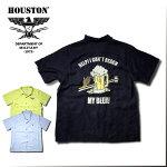 2018S/S『HOUSTON/ヒューストン』40384BOWLINGSHIRT(BEER)/ボーリングシャツ(ビール)-全3色-/ボーリング/コメディ/ピン/リヨセル/刺繍/【チケット対象】[40384]