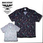 2018S/S『HOUSTON/ヒューストン』40426ALOHASHIRT(ARROW)/アロハシャツ(アロー)-全2色-/レーヨン/矢/ストライプ/カラフル/南国/【チケット対象】[40426]