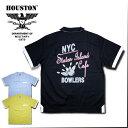 2018S/S『HOUSTON/ヒューストン』40435 COTTON BOWLING SHIRTS(NYC) /コットンボウリングシャツ(ニューヨークシティ) -全3色-/ボーリング/ピン/コットン