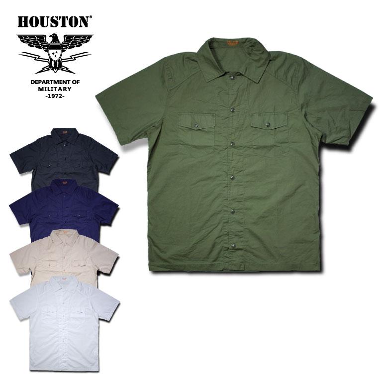 2018S/S『HOUSTON/ヒューストン』40455 POPLIN HBT SHIRTS /ポプリンHBTシャツ -全5色-/コットン/ペン刺し/半袖シャツ/ユニオンネットストア【チケット対象】[40455]