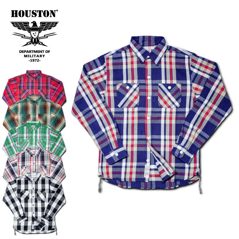 2018A/W『HOUSTON/ヒューストン』40468 CHECK VIYELLA SHIRT / チェックビエラシャツ -全6色-/ワーク/ネルシャツ/バッファローチェック/ユニオンネットストア[40468]