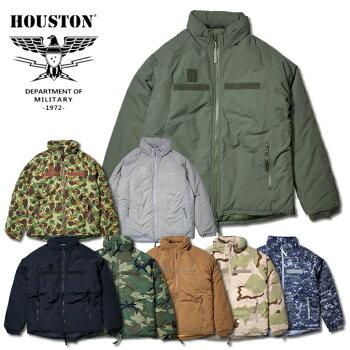 『HOUSTON/ヒューストン』50323LEVEL7JACKET/レベル7ジャケット-全7色-「Thinsulate」「シンサレート」「3M」「中綿」「ミリタリー」「アウター」「軍」「フード」「ナイロン」「迷彩」【チケット対象】「103」[50323]