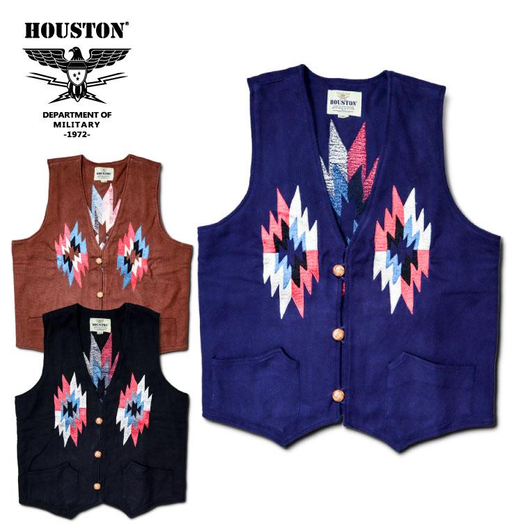 2018A/W『HOUSTON/ヒューストン』50768 EMBROIDERY ORTEGA VEST / 刺繍オルテガベスト -全3色-/ワーク/ネルシャツ/バッファローチェック/ネイティブ/ユニオンネットストア[50768]