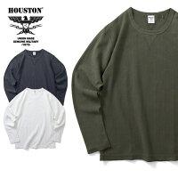 2019A/W『HOUSTON/ヒューストン』21729HERRINGBONEJACQUARDLONGSLEEVETEE/ヘリンボーンジャガード長袖Tシャツ-全3色-/ヴィンテージ/バインダーネック/ユニオンネットストア[21729]