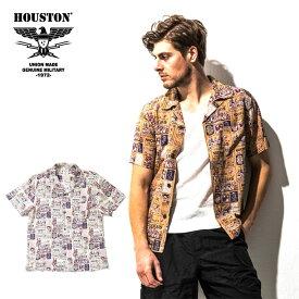 2019S/S『HOUSTON/ヒューストン』40532 ALOHA SHIRT (MEXICO)/ アロハシャツ (メキシコ) -全2色-/アロハ/半袖/レーヨン/メキシカンスカル/カラベラ/ビンテージ/ヴィンテージ/ユニオンネットストア[40532]