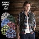 2019A/W『HOUSTON/ヒューストン』40647 PRINT CHECK FLANNEL SHIRT / プリントチェックフランネルシャツ -全6色-/ワーク/ヴィンテージ/…