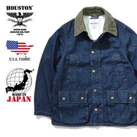 2019A/W『HOUSTON/ヒューストン』50885 USA DENIM RIDE JACKET/USAデニムライドジャケット -INDIGO-/ワーク/インディゴ/デッドストック/日本製/MADE IN JAPAN/コーデュロイ/ヘリンボーン/ユニオンネットストア[50885]