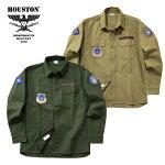 2019S/S『HOUSTON/ヒューストン』40581PATCHARMYSHIRT(USAF)/パッチアーミーシャツ(エアフォース)-全2色-/ワッペン/刺繍/アメリカ空軍/ミリタリー/バックサテン/コットン/ユニオンネットストア[40581]