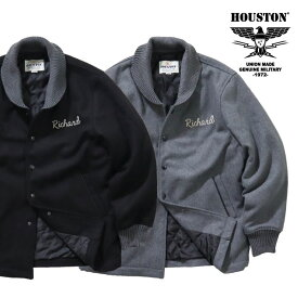 HOUSTON / ヒューストン 50946 MELTON PHARAOH JACKET / メルトンファラオジャケット-全2色- /ビンテージ/ヴィンテージ/刺繍/チェーンステッチ/リブ/ダイヤモンドキルティング/ユニオンネットストア[50946]