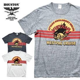 HOUSTON / ヒューストン 21805 HEATHER PRINT TEE(VIETNAM) / ヘザープリント半袖Tシャツ (ベトナム) -全3色-/コットン/霜降り/アメカジ/ミリタリー/MILITARY/ユニオンネットストア[21805]