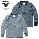 HOUSTON / ヒューストン 21839 HEATHER INDIGO THERMAL H/N TEE / ヘザーインディゴ サーマル ヘンリーネック Tシャツ -全2色- / コッ…
