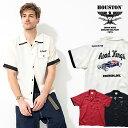 2020S/S『HOUSTON/ヒューストン』40664 BOWLING SHIRT (HOTROD) / ボウリング シャツ (ホットロッド) -全3色- / ボーリング / 刺繍 / …