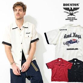 2020S/S『HOUSTON/ヒューストン』40664 BOWLING SHIRT (HOTROD) / ボウリング シャツ (ホットロッド) -全3色- / ボーリング / 刺繍 / アメカジ / ユニオンネットストア[40664]