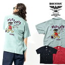 2020S/S『HOUSTON/ヒューストン』40665 BOWLING SHIRT (ALLEY CATS) / ボウリング シャツ (アーリーキャッツ) -全3色- / ボーリング / …