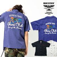 2020S/S『HOUSTON/ヒューストン』40666BOWLINGSHIRT(SHINE)/ボウリングシャツ(シャイン)-全3色-/ボーリング/刺繍/アメカジ/ユニオンネットストア[40666]