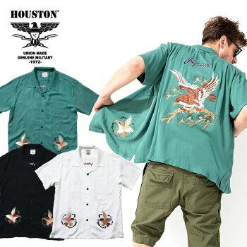 2020S/S『HOUSTON/ヒューストン』40686SOUVENIRSHIRT(HAWK)/スーベニアシャツ(鷹)-全3色-/ホーク/スカシャツ/和柄/ミリタリー/MILITARY/アメカジ/ユニオンネットストア[40686]