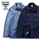 2020S/S『HOUSTON/ヒューストン』40691 WABASH WORK SHIRT / ウォバッシュワークシャツ -全2色-/ペンポケット/ビンテージ/ユニオンチケ…