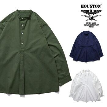 2020S/S『HOUSTON/ヒューストン』40702POPLINBULGARIANARMYGRANDPASHIRT/ポプリンブルガリア軍アーミーグランパシャツ-全3色-/ミリタリー/MILITARY/ユニオンネットストア[40702]
