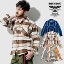 HOUSTON / ヒューストン 40776 BLOCK CHECK VIYELLA SHIRT / ブロックチェックビエラシャツ -全3色- / コットン/ワーク/ビッグサイズ/…
