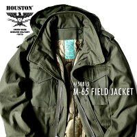 HOUSTON/ヒューストン50815M-65JACKET/M-65ジャケット-全2色-/ミリタリー/m65/3WAY/フィールドジャケット/ユニオンネットストア[50815]