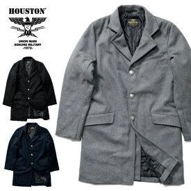 HOUSTON / ヒューストン 51091 CHESTERFIELD COAT/ チェスターフィールドコート -全3色- /800g メルトン/ウール/中綿/コンチョボタン/ユニオンネットストア[51091]