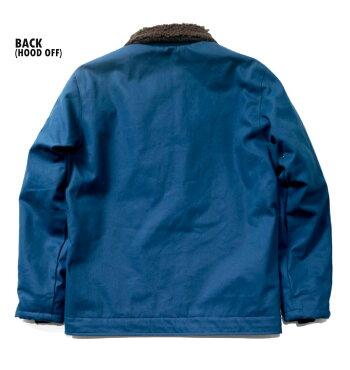 HOUSTON/ヒューストン51074FRENCHBLUEDECKJACKET/フレンチブルーデッキジャケット-全3色-/ステンシル/フード/ミリタリー/MILITARY/ボア/裏地/ユニオンネットストア[51074]