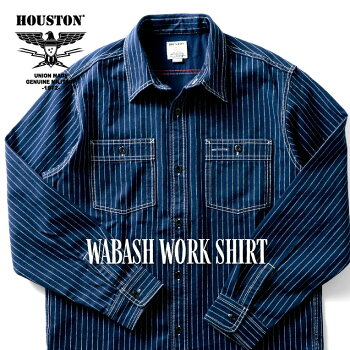 HOUSTON/ヒューストン40691WABASHWORKSHIRT/ウォバッシュワークシャツ-全2色-/ペンポケット/ビンテージ/ユニオンチケット/ダブルステッチ/ユニオンネットストア[40691]