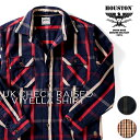 HOUSTON / ヒューストン 40864 UK CHECK RAISED VIYELLA SHIRT / UKチェックライズビエラシャツ-全3色- / ネルシャツ/肉厚/裏起毛/ブラ…