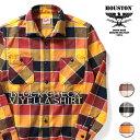 HOUSTON / ヒューストン 40873 BLOCK CHECK VIYELLA SHIRT / ブロックチェックビエラシャツ-全4色- / ネルシャツ/肉厚/トリプルステッ…