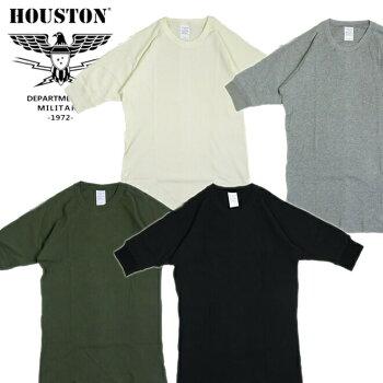 5分丈Tシャツ21011S/S『HOUSTON/ヒューストン』210111/2HALFSLEEVETEE/1/25分丈Tシャツ-全4色-「アメカジ」「カジュアル」「ワッフル」「サーマル」「インナー」「クルーネック」【チケット対象】[21011]