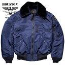 【国産】フライトジャケット『HOUSTON/ヒューストン』 5002 B-15C FLIGHT JACKET/B-15Cフライトジャケット-ネイビー-/日本製/made in j…