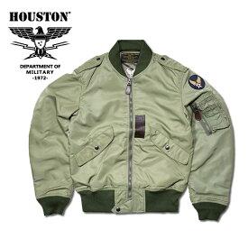 フライトジャケット『HOUSTON/ヒューストン』 5l-2X L-2 FLIGHT JACKET / L-2 フライトジャケット -全1色- 「日本製」「made in japan」「アウター」「U.S.AIR FORCE」「エアーフォース」「アメカジ」「ナイロン」「ミリタリー」「中綿なし」【チケット対象】[5L-2X]
