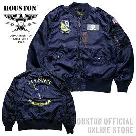 『HOUSTON/ヒューストン 』 50562 BLUE ANGELS L-2A / ブルーエンジェルス L-2A 「ミリタリー」「アメカジ」「フライトジャケット」「メンズ」「アウター」「ナイロン」「中綿なし」【チケット対象】[50562]