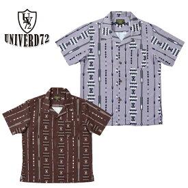 2019S/S『UNIVERD72/ユニバード72』40496 ALOHA SHIRT (ORIENTAL)/ アロハシャツ (オリエンタル) -全2色-/アロハ/半袖/ハワイ/HAWAII/ビンテージ/ヴィンテージ/ハワイ/ユニオンネットストア[40496]