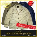 日本製『UNIVERD72/ユニバード72』 50493 VENTILE WORK JACKET / ベンタイルワークジャケット -全3色-「テーラード」「ブラウン」「ネ…
