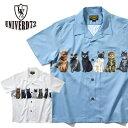 2020S/S『UNIVERD72 / ユニバード72』40717 ALOHA SHIRTS(CAT) / アロハシャツ(キャット) -全2色-/ポリエステル/猫/オープンカラー/ユ…