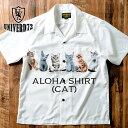 UNIVERD72 / ユニバード72 40836 ALOHA SHIRT(CAT) / アロハシャツ(キャット) -全2色- /ポリエステル/半袖/猫/アニマル/プリント/オー…