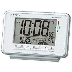 セイコー クロック 目覚まし時計 電波 デジタル ウィークリー アラーム カレンダー 快適度 温度 湿度 表示 白 SQ775W SEIKO[un]